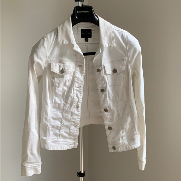 The Limited Jackets & Blazers - The Essential White Denim Jacket